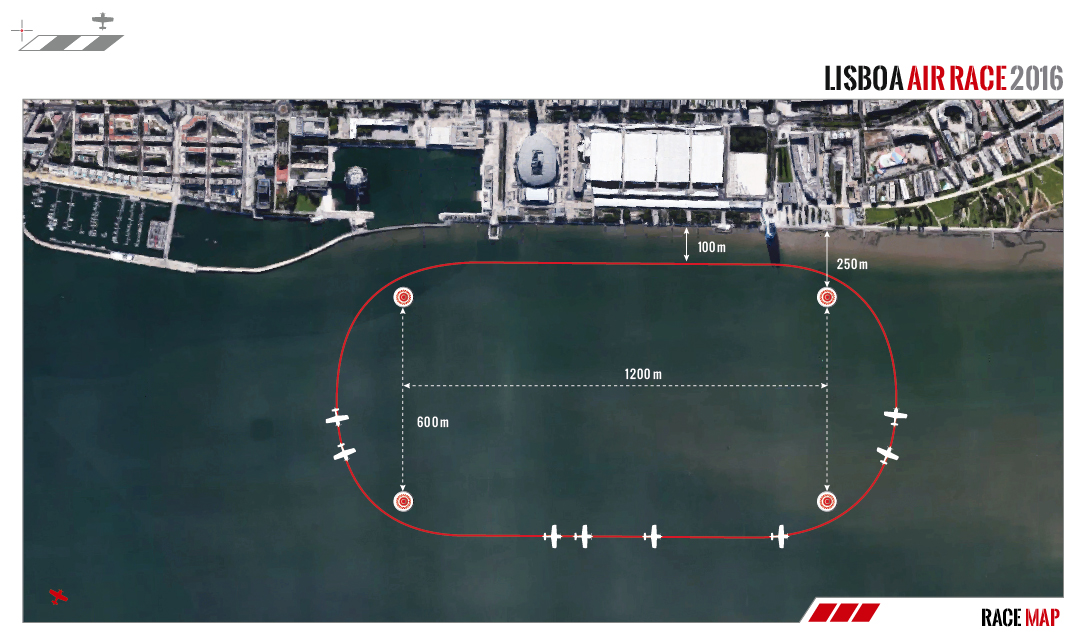 Mapa Lisboa Air Race 2016 - APPLA